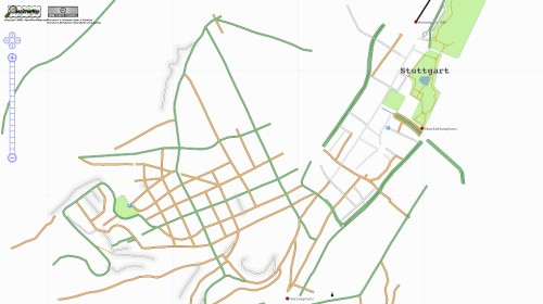 Map of Stuttgart, Germany on OpenStreetMap