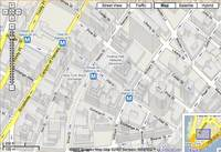 Map of downtown Manhattan, New York City, NY from google.com