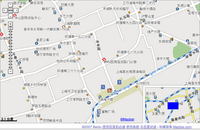 Map of Shanghai, China from baidu.com