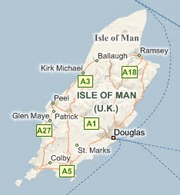 Microsoft Live Search map of the Isle of Man