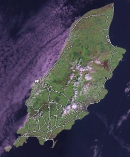 Isle of Man roads mapped using Openstreetmap