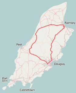 Snaefell Mountain Course - Isle of Man TT outline map