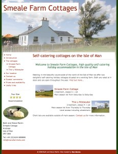Manx farm holidays in Smeale, Isle of Man
