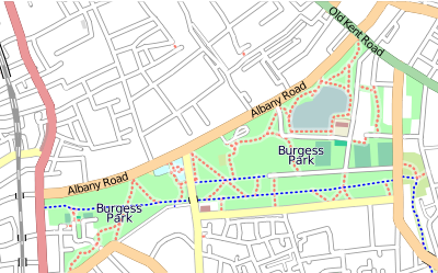 Map of Burgess Park