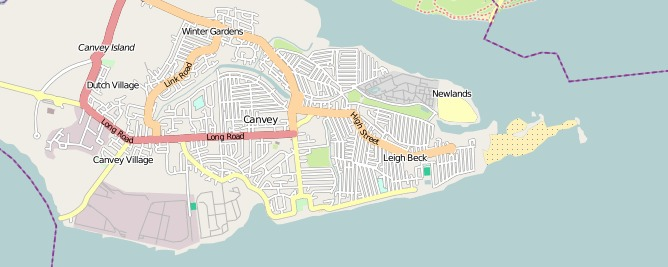 Canvey Island on OpenStreetMap