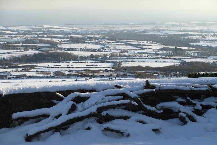Snowy scene from the Isle of Man