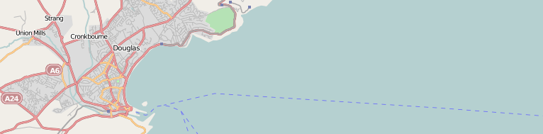 Overview of Douglas, Isle of Man from OpenStreetMap