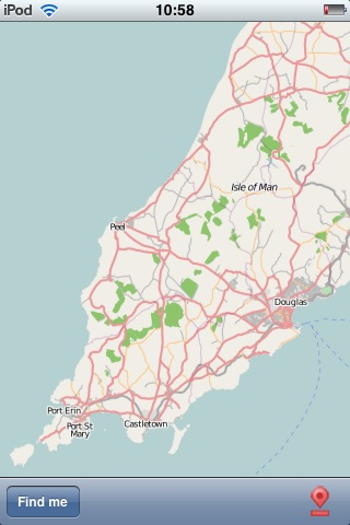 Isle of Man street maps on the iPhone