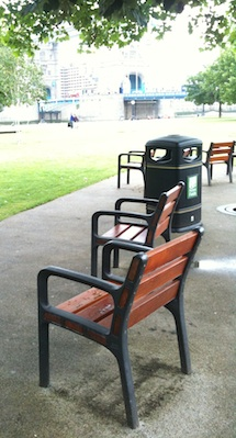 Chairs in Potters Fields park