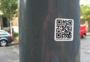 QR code trail sticker in-situ