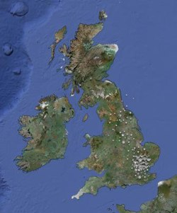 British snowfall mapped via Twitter